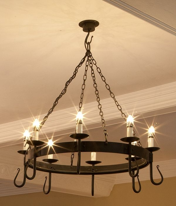 Wrought Iron Chandelier Wrought Iron Chandelier and