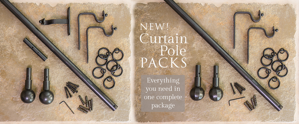 Introducing a new quicker way to buy our Nigel Tyas Ironwork traditional handmade curtain poles