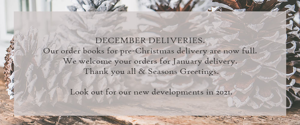 Update on December deliveries - Christmas & Covid-19
