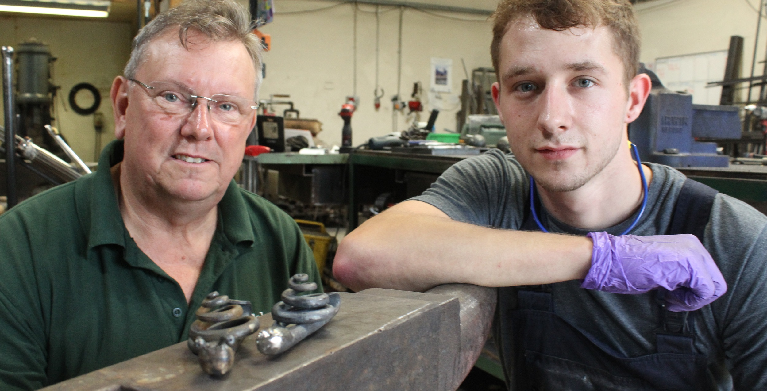 Press release - Blacksmith apprentice makes fast work of handmade steel snails
