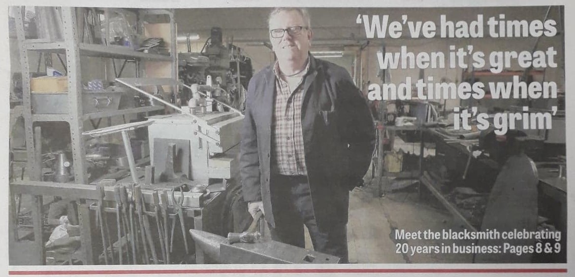 Media coverage - Heritage blacksmith celebrates 20 years in business