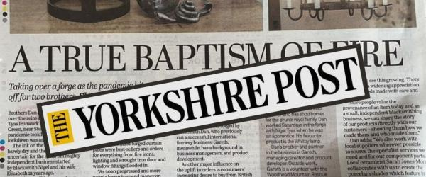 Yorkshire Post - 'A True Baptism of Fire' at Nigel Tyas Ironwork