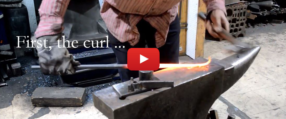 Video - Andrew making a Shepherd's Crook curtain pole finial (1:12)