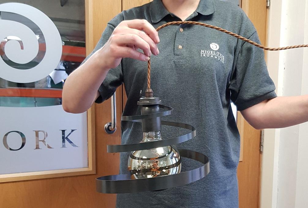 Blacksmith Friday - spiral tapered pendant