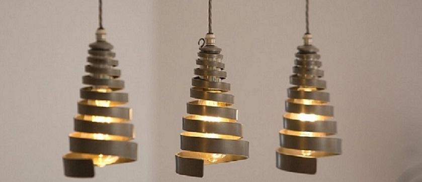 Ceiling lights by Nigel Tyas Irownwork - Bretton