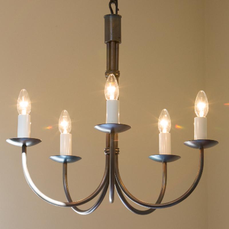 Ceiling lights by Nigel Tyas Ironwork - Hartcliff chandelier