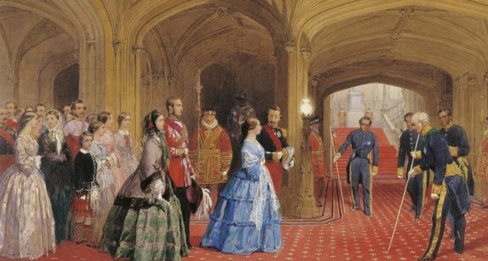 Queen Victoria in the Undercroft at Windsor Castle