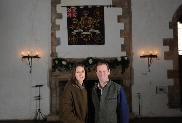 The Orde-Powletts inside Bolton Castle