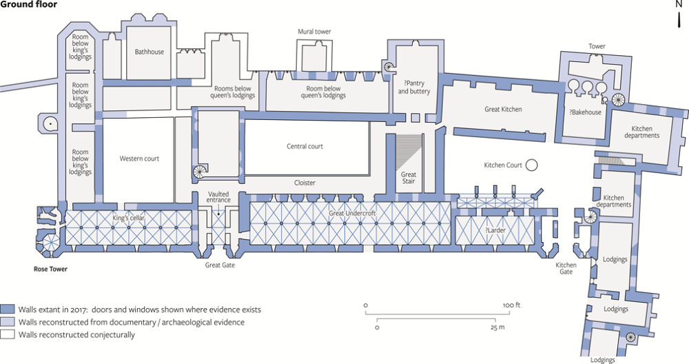 Floorplan of Windsor Castle renovated Undercroft