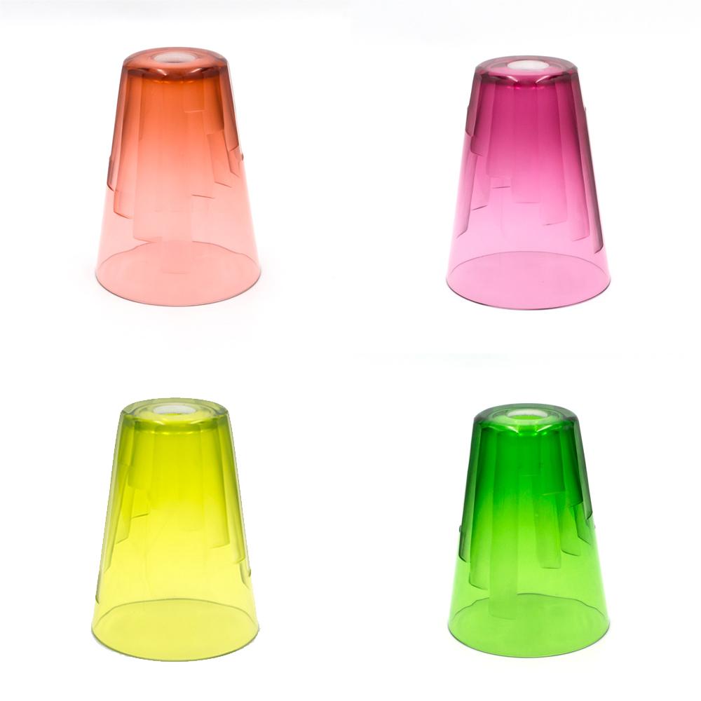 24 per cent lead crystal cut glass shades
