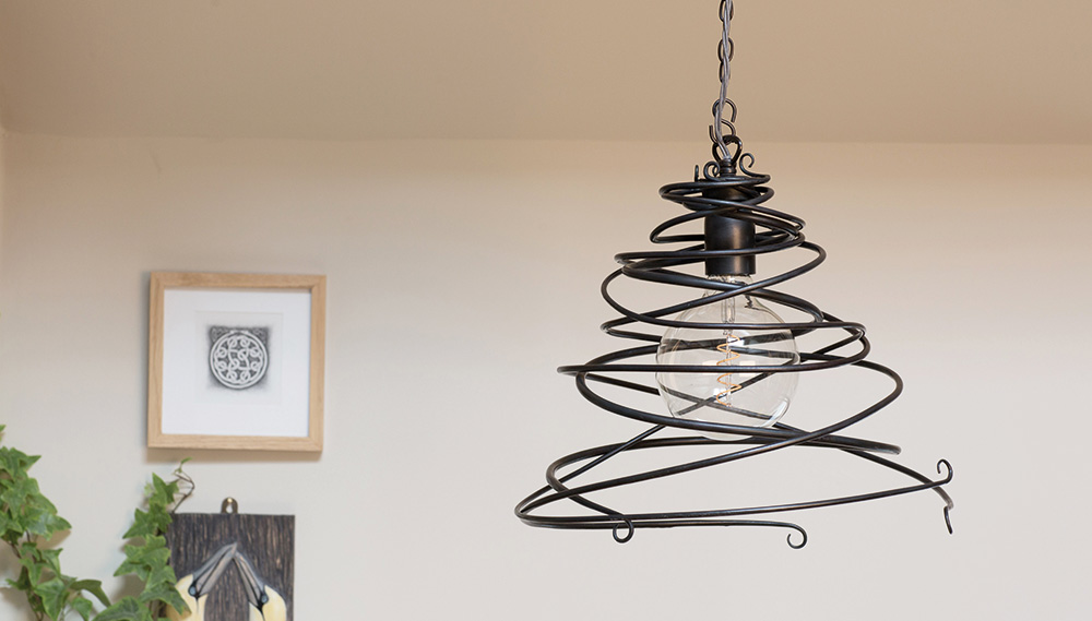 Maythorne pendant in a modern rustic setting