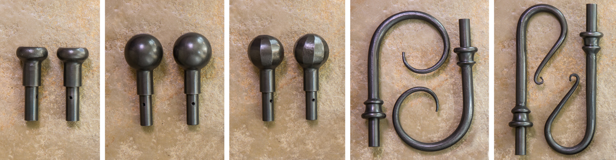 Wrought iron curtain pole packs
