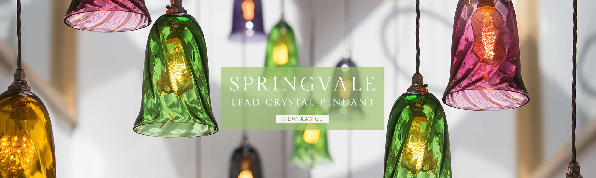 Springvale Lead Crystal Pendant Light from Nigel Tyas Ironwork