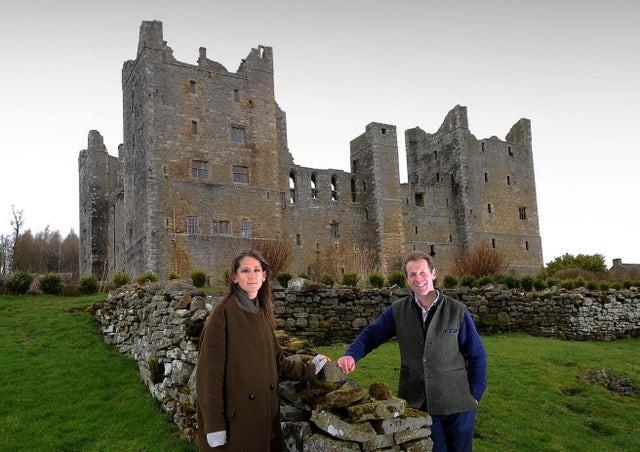 The Orde-Powletts outside Bolton Castle