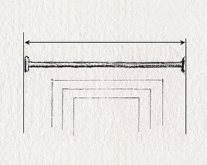 Click here to measure for traditional wrought iron curtain poles without finials