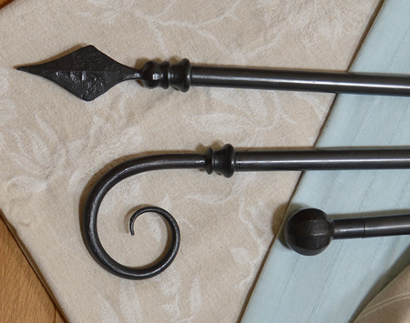 Wrought Iron Curtain Poles from Nigel Tyas
